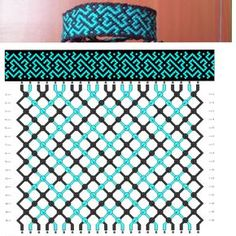 Friendship Bracelet Pattern                                                                                                                                                     More
