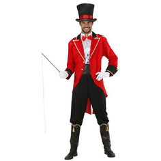 Halloween costumes for men Ringmaster adult disfraz domador circo costume cosplay fancy dress party Uniform jacket with hat