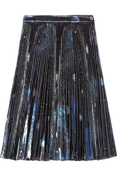 MARC BY MARC JACOBS Stargazer pleated metallic organza skirt 2015 fashion trend