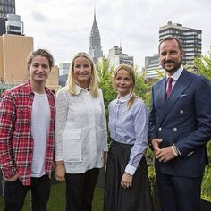 The Crown Prince and Princess in New York City with Norwegian musician Kygo.