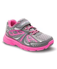 Gray & Pink Racer Lights Light-Up Sneaker #zulily #zulilyfinds