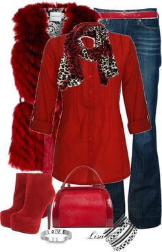 """""""Red Vest"""" by lmm2nd on Polyvore"""