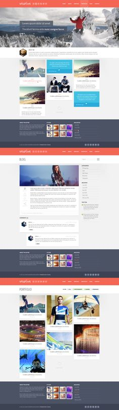 Wildfire - Responsive Portfolio Theme by The-Returnx.deviantart.com on @deviantART