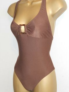 3a69ccba2d414 BROWN GAP X BACK SWIMSUIT SIZE 10 LADIES SWIMWEAR #fashion #clothing #shoes  #