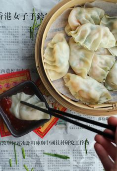 Prawn and Chive Steamed Dumplings | The Mother Cooker