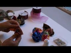 How to make a ribbon rose in just a few minutes.