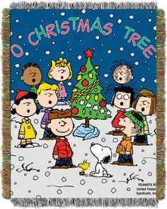 Peanuts, Charlie Brown, Charlie Brown Christmas 48-Inch-by-60-Inch Acrylic Tapestry Throw by The Northwest Company * Click on the image for additional details.