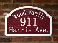 The Carving Company | Full Service Custom Carved Sign Shop | Street Address / House Number sign (A20)- Carved Sign