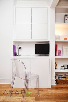 Bespoke Alcove Units, Built in Cupboards, London from Avar Furniture Alcove Desk, Alcove Storage, Alcove Shelving, London Wall, Built In Cupboards, Interior Architecture, Interior Design, Wall Mounted Shelves, Shelf