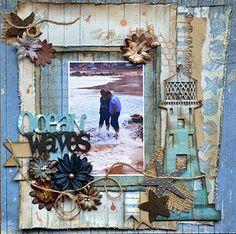 Fabscraps - Beachcomber -  Ocean Waves - Roulien Stahnke (with tutorial)