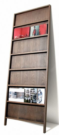 Bookcase Good, Great, or just OK? Bookcase Small Space Secrets: Swap Your Bookcases for Wall Mounted Shelving 45 Amazing DIY Projects! Bookcase Shelves, Shelving, Magazine Display, Magazine Rack Wall, Brochure Display, Brochure Holders, Book Display Shelf, Cool House Designs, Office Decor