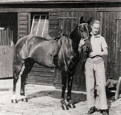 Leslie Howard with one of his horses