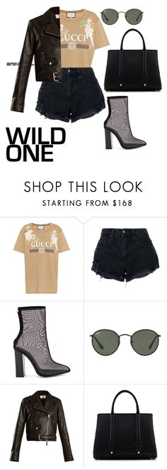 """Day #78"" by andick on Polyvore featuring moda, Gucci, Nobody Denim, Raye, Ray-Ban, The Row e La Perla"