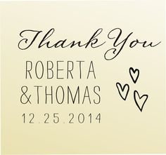 THANK YOU modern design Calligraphy Handwriting Script font rubber stamp clear block mounted -style 6057ThankYou