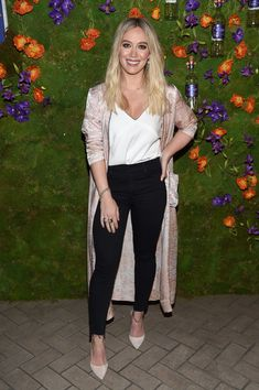 Hilary Duff attends the Callie Collection Wines launch event in NYC.