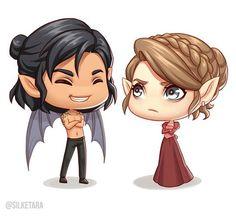 Nesta and Cassian as Pop