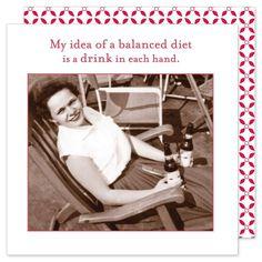My Idea Of A Balanced Diet Napkins