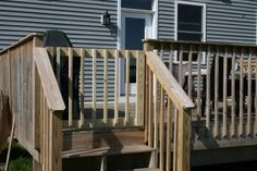 Safety first! Here's a #DIY #deck gate to keep your kids and critters protected.