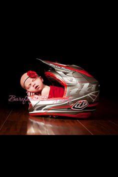 My Granddaughter Tenley in her Daddy's Helmet!