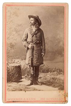 "Nice Studio photograph of Captain Jack Crawford, known as ""The Poet Scout"". Civil War veteran, Old West Scout, and Popular Poet of Western Lore. Crawford was Scout for Gen. Phil Sheridan, Gen. George Crook and good friend to Wild Bill Hickok and Buffalo Bill Cody, who featured Crawford in his Wild West Show for many years."