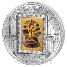 "Cook Islands 2011 $20 ""TUTANKHAMUN King Pharaoh"" Masterpieces of Art 3 Oz Proof Silver & Gold."