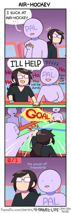 4-Panel Life :: AIR HOCKEY | Tapastic - image 1