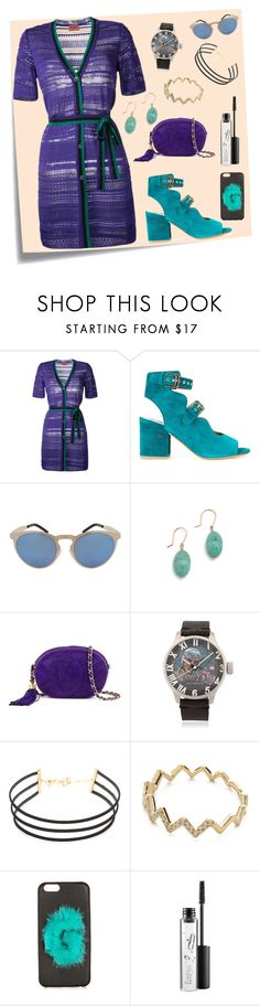 """Belted Dress..**"" by yagna ❤ liked on Polyvore featuring Post-It, Missoni, Laurence Dacade, Illesteva, Aurélie Bidermann, Chanel, Proff, Vanessa Mooney, EF Collection and Fendi"