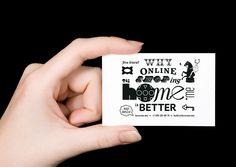 Hooome.me - Business Card Design Inspiration | Card Nerd