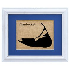 Bring a touch of charm to your living room or den with this lovely burlap wall decor, showcasing a Nantucket motif and contemporary white frame. Made in the ...