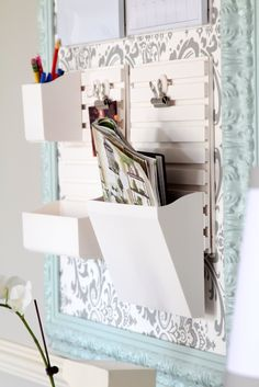 Home Office Organization from Top This Top That:  Martha Stewart's new wall manager #marthastewarthomeoffice
