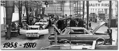 Chrysler Rotterdam Assembly Plant, the story of the Kaiser-Frazer factory (NEKAF) as adopted by Chrysler Europe, Car Dealerships, Assembly Line, Factories, Rotterdam, Mopar, Muscle Cars, Plant, Classic, Vintage