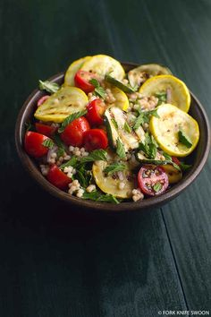 Grilled Summer Squash, Tomato, and Couscous Salad | 39 Salads To Make On The Grill