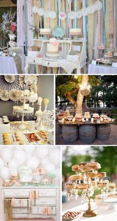 A wedding at candy buffet vintage