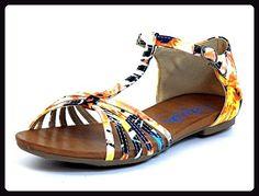 Refresh Damen Sandaletten gelb-kombi (gelb) 61735 257 JEANS - Sandalen für frauen (*Partner-Link)