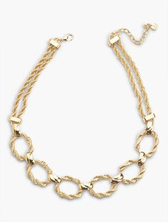 Twisted-Rope Double-Chain Necklace - Talbots