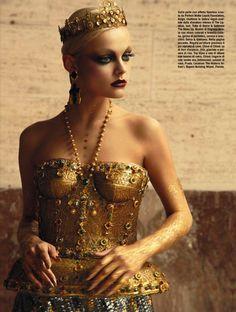 Viktoriya Sasonkina by Greg Lotus, Vogue Italia October 2013
