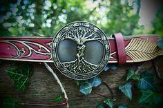 elven leather belt elvish belt celtic belt