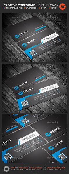 Corporate business card vol5 corporate business and business cards reheart Gallery