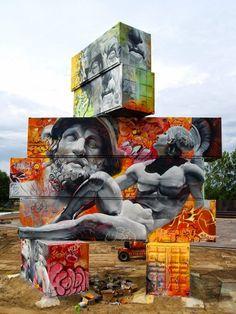 Greek god graffiti - by Pichi & Avo, Spanish
