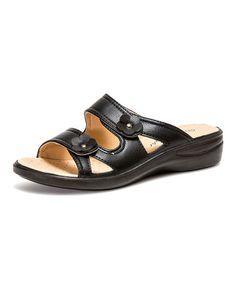 Look what I found on #zulily! Black Soft Sandal by Fashion Focus #zulilyfinds