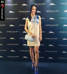 Looked amazing tonight in Longchamp at the Longchamp opening party in Singapore.    #longchamp     #fashion     #ss16