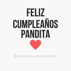 Feliz Cumpleaños Pandita