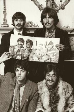 Richard Starkey, George Harrison, Paul McCartney, and John Lennon (Sgt. Pepper's Lonely Hearts Club Band,  6-2-67)