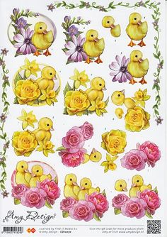 Amy Cut out sheet – Knippen 3d Cards, Pop Up Cards, Cute Crafts, Diy And Crafts, Christmas Sheets, Image 3d, Easter Wallpaper, Internet Art, 3d Sheets
