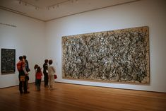 One: Number 31 (1950) by Jackson Pollock @ MoMA - NYC Moma Nyc, Jackson Pollock, Various Artists, Sculpture, Frame, Illustration, Artworks, Number, Life
