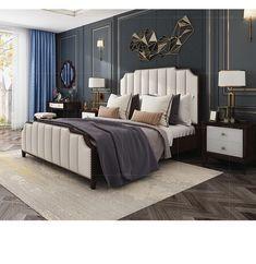 Simple Bedroom Design, Modern Master Bedroom, Bedroom Bed Design, Room Interior Design, Contemporary Bedroom, Home Bedroom, Bedroom Decor, Luxury Interior, Dream Furniture
