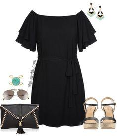 Plus Size Little Black Dress - Plus Size Summer Dress - Plus Size Fashion for Women - alexawebb.com #alexawebb