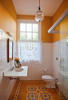 banheiro com ladrilho hidraulico - Pesquisa Google                                                                                                                                                                                 Mais