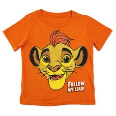Toddler Boys' The Lion Guard Follow My Lead T-Shirt - Orange : Target