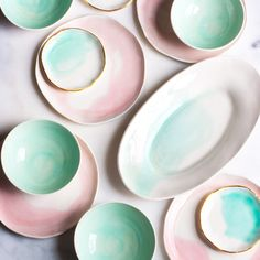 Watercolor Porcelain Tableware by Suite One Studio: Your dishes should earn their seat at your table.